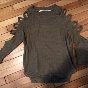 LF (pippa Lynn) brown cut out sweater size small